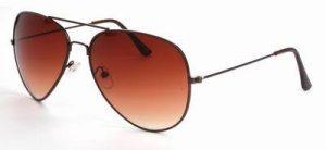 Piloten zonnebril heren dames bruine glazen