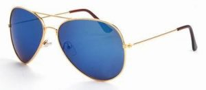 Aviator zonnebril spiegelglazen blauwe