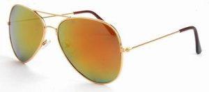 Aviator zonnebril goedkoop spiegelglazen gouden rode