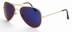 Aviator zonnebril met spiegelglazen paarse