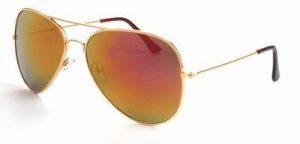Aviator zonnebril heren dames spiegelglazen roze