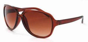 Cats eye zonnebril bruine glazen