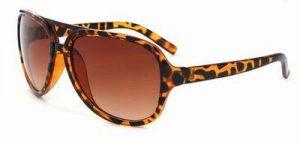 Cats eye zonnebril schildpad print