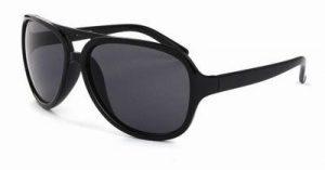 Cats eye zonnebril zwarte glazen