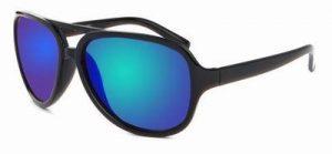 Cats eye zonnebril spiegelglazen groene blauwe