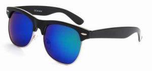 Clubmaster oversized zonnebril spiegelglazen groene blauwe