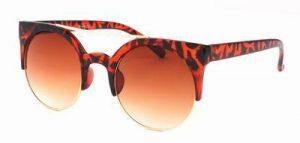 Ronde zonnebril schildpad print