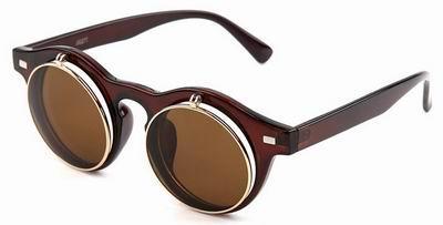 f3833c438250ff Zonnebril met klepjes bruine goedkoop online kopen