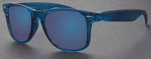 Blauwe Wayfarer Ice Pop zonnebril spiegelglazen