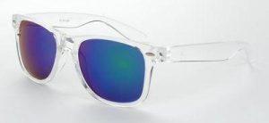 Wayfarer Ice Pops zonnebril transparant glans groene blauwe spiegelglazen