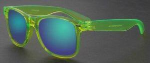 Groene Wayfarer Ice Pop zonnebril spiegelglazen