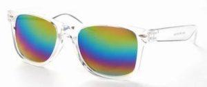 Wayfarer Ice Pops zonnebril transparant glans regenboog spiegelglas