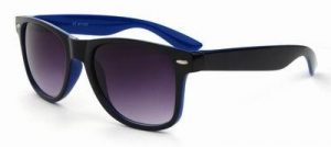 Wayfarer two tone zonnebril zwart blauw