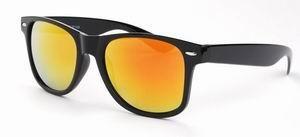 Wayfarer zonnebril spiegelglas gouden rode
