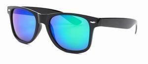 Wayfarer zonnebril spiegelglas groene blauwe