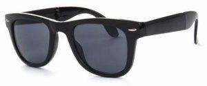 Wayfarer zonnebril zwarte glazen glans opvouwbaar