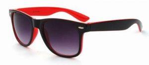 Wayfarer two tone zonnebril zwart rood