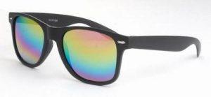 Wayfarer zonnebril spiegelglazen regenboog