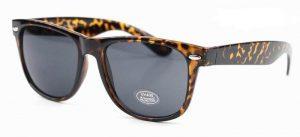 Wayfarer zonnebril zwarte glazen schildpad print