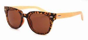 Houten zonnebril Wayfarer schildpad print