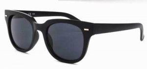 Zonnebril zwart mat Wayfarer