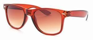 Wayfarer zonnebril bruine glazen transparant