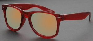Rode Wayfarer Ice Pop zonnebril spiegelglazen