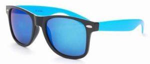 Wayfarer zonnebril heren spiegelglazen blauwe