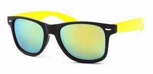 Wayfarer zonnebril goedkoop spiegelglas gouden
