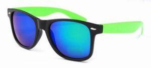 Wayfarer zonnebril goedkoop spiegelglazen groene blauwe