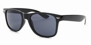 Wayfarer zonnebril zwarte glazen